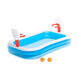PISCINA INFLABLE FORMA RECT BASKET
